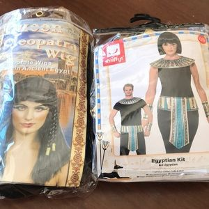 Cleopatra Egyptian Wig and Accessories